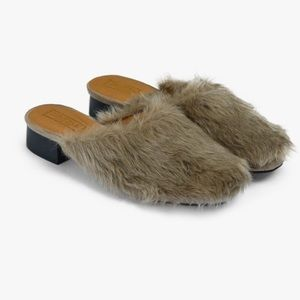 Nasty Gal Truffle Collection Faux Fur Mules